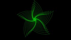 Digital Art Fractal Lines Spiral 7680x4320 Wallpaper