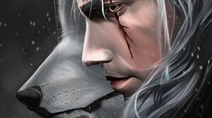 Zhivko Enev The Witcher Yellow Eyes Digital Art Artwork Wolf Geralt Of Rivia Scar On Eye Portrait Di 3248x4521 Wallpaper