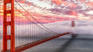 Bridge Cloud Golden Gate 3840x2160 wallpaper