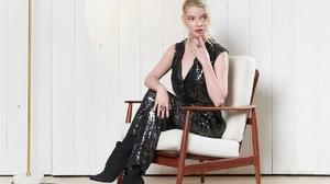 Anya Taylor Joy Women Actress Blonde High Heeled Black Clothing Black Dress Indoors 1280x919 Wallpaper