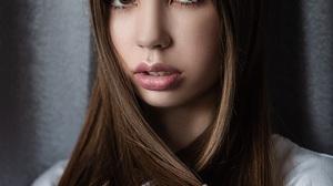 Women Long Hair Brunette Vladimir Vasilev 500px 899x1350 wallpaper