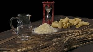 Flour Hourglass Pasta Pitcher Still Life Wheat 6000x4000 Wallpaper