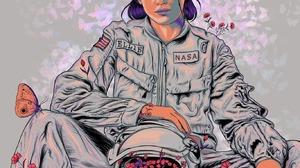 The Last Of Us The Last Of Us 2 Ellie The Last Of Us Artwork Astronaut NASA Video Games PlayStation 1367x2048 Wallpaper
