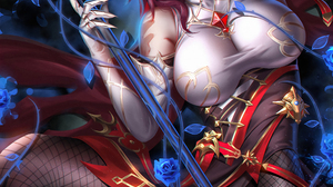 Liang Xing Digital Video Game Art Rosaria Genshin Impact Genshin Impact Video Game Girls 4000x5660 Wallpaper