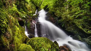 Robert Didierjean Landscape Waterfall Nature Grass Long Exposure Forest Stones 2048x1366 Wallpaper