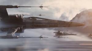 Star Wars Star Wars Episode Vii The Force Awakens X Wing 16384x6864 Wallpaper