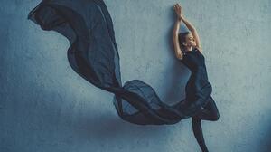 Dan Hecho 500px Women Indoors Women Indoors Arms Up Ballerina Ballet Slippers Leaning Wall Legs Tipt 1600x1200 Wallpaper