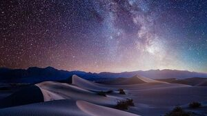 Stars Galaxy Milky Way Desert Space 820x2048 Wallpaper