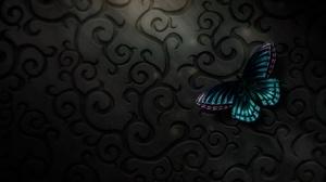 Butterfly Digital Art Texture 2560x1440 wallpaper