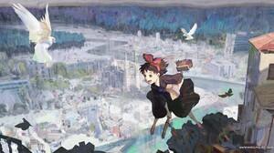 Artwork Digital Art Anime Kikis Delivery Service Studio Ghibli 1920x950 Wallpaper