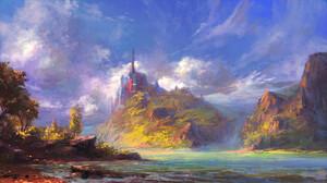 Lake Mountain Sky 2900x1631 wallpaper