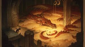 Dragon Smaug Fantasy Architecture Fantasy Art Hobbits The Hobbit Gold Treasure Tail Reptile Dungeon 3200x2155 Wallpaper