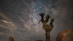 Landscape Desert Starry Night Rocks Stars 3000x2002 wallpaper