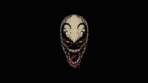 Artwork Venom Creature Glowing Eyes Simple Background Anti Venom 5220x2700 Wallpaper
