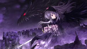 Suigintou Rozen Maiden Dark Gothic Dragon Fantasy 1920x1200 wallpaper
