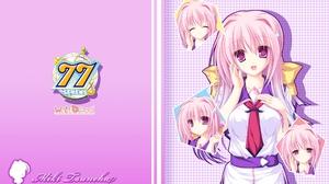 Sevens And Two Stars Meet Again Isuneha Miki Anime Anime Girls Multi Colored Hair Pink Hair Purple T 1920x1200 Wallpaper