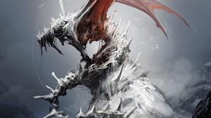 Artwork Abstract Dragon Creature Fantasy Art Esuthio 1035x1400 Wallpaper