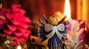 Doll Angel Christmas Ornaments 4896x3264 Wallpaper