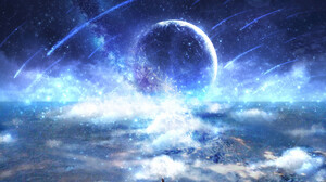 Comet Planet Stars 2735x1776 wallpaper