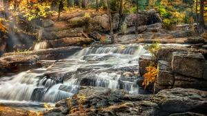 Nature Rock Waterfall 2048x1365 Wallpaper
