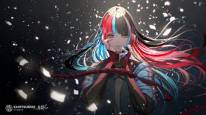 Anime Anime Girls Digital Art Artwork 2D Portrait Hoshizaki Reita Virtual Youtuber Harusaruhi Yellow 1500x844 Wallpaper