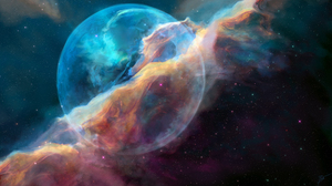 Hubble Bubble Joey Jazz Space Art Nebula 2560x1440 Wallpaper