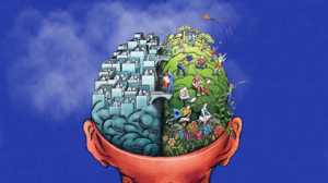 Brain Blue Background Artwork 1280x800 Wallpaper
