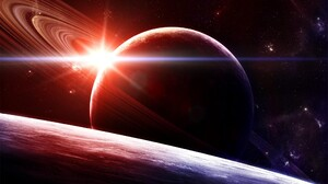 Sci Fi Planetary Ring 2560x1600 wallpaper
