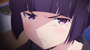 Eromanga Sensei Senju Muramasa Purple Eyes Angry Face Purple Hair Anime Girls Anime 3072x1728 Wallpaper
