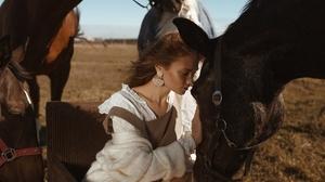 Earrings Girl Horse Model Mood Woman 2560x1707 Wallpaper