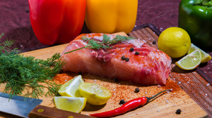 Capsicum Fish Food Salmon 6240x4160 Wallpaper