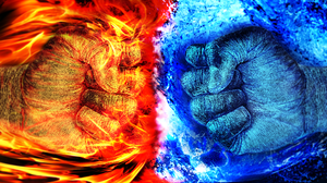 Fire And Ice Fighting Games Fire Ice Video Games Video Game Art Fist 2500x1800 Wallpaper