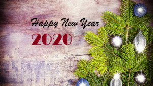 Christmas Lights Happy New Year New Year 2020 2560x1756 Wallpaper