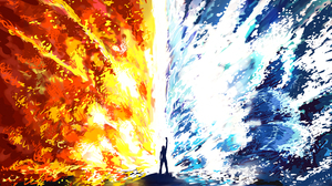 Elemental Fire Girl Magic Water Woman 3232x2000 Wallpaper