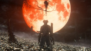 Blood Moon Bloodborne Creature Creepy Dark Moon Warrior 1920x1080 wallpaper