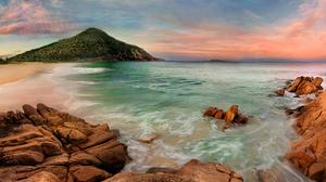 Ocean Sea Beach Rock Australia Sky Horizon 3500x2000 wallpaper