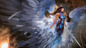 Angel Sword Wings 1920x1080 Wallpaper