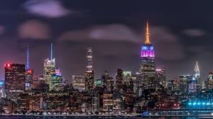 Building City New York Night Skyscraper Usa 2048x1366 Wallpaper