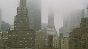 Mist Building Architecture Skyline City Winter Film Grain 2048x1371 wallpaper