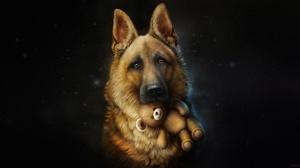 Face Dog Teddy Bear 4400x2330 wallpaper