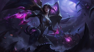 League Of Legends Magic Fantasy Girl Dark Fantasy PC Gaming KaiSa League Of Legends Low Angle Draw Y 1920x1133 Wallpaper