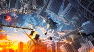 Anime Girls Cityscape Clouds Original Characters Banishment 3840x2160 wallpaper