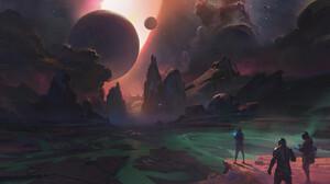 Artwork Fantasy Art Science Fiction Space Planet 1920x1080 Wallpaper