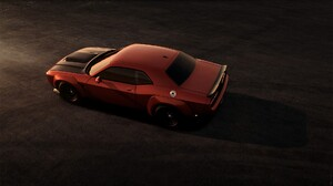 Car Dodge Dodge Challenger Dodge Challenger Srt Muscle Car Red Car Vehicle 1920x1080 Wallpaper
