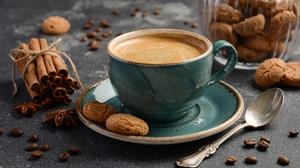 Cookie Cinnamon Cup Drink Still Life 4928x3264 Wallpaper
