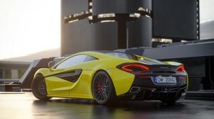 Car Mclaren Mclaren 570s Sport Car Supercar Vehicle Yellow Car 2572x1447 Wallpaper