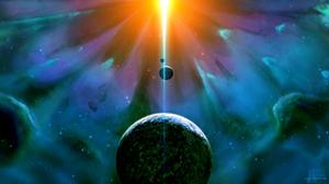 Planet Sci Fi Space Stars 2560x1440 wallpaper
