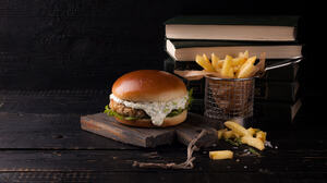 Book Burger French Flag Still Life 2048x1273 Wallpaper