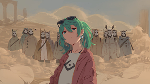 Hatsune Miku Sand Planet Vocaloid 3507x2480 Wallpaper