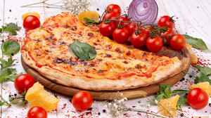Food Pizza Tomatoes Vegetables Cheese 1920x1080 Wallpaper